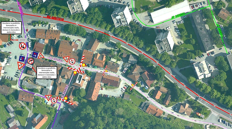 Od ponedeljka spremenjena prometna ureditev v Starem Velenju